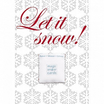 Magic Snow Card - Let it snow
