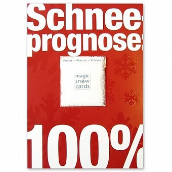 Magic Snow Card - Schneeprognose 100%
