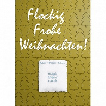 Magic Snow Card - Flockig frohe Weihnachten