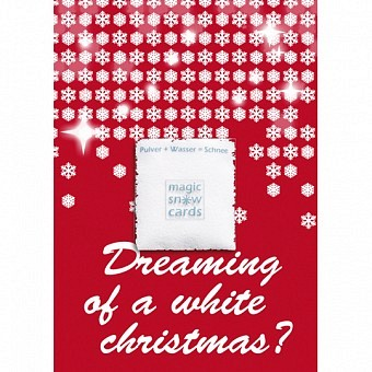 Magic Snow Card - dreaming of a white christmas